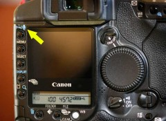 On Canon systems the microphone button is with the photo locking symbol